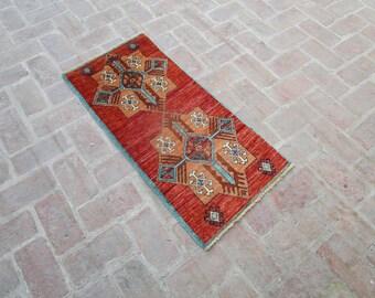 Size: 3.9 x 1.9 feet, Reduced Price!! Floral Rug, Vintage Rug, Afghan Rug, Turkish Rug, Hand knotted Rug, Aztec Rug, Accent Rug, Woolen Rug