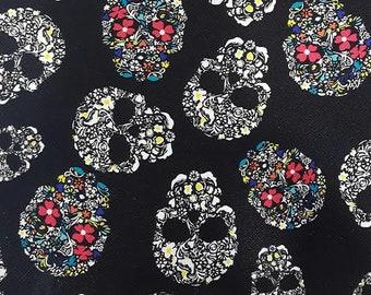 Fabric faux leather Skulls, skulls, skulls, 1/2 meter