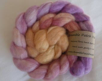 Hand Dyed Blue Faced Leicester British Wool Combed Top for Spinning or Felting 100g
