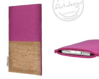 "iPad case EVORA with cork bag (rosa) - hand-made for ALL iPads - iPad Pro (10,5""), iPad Pro (12,9""), iPad 2017, iPad mini 4"