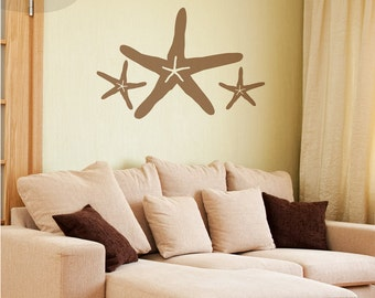 Starfish Family - Set of 3 - Vinyl Wall Decal