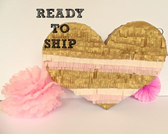 Heart Pinata : Ready-To-Ship, wedding, engagement party, hen party, birthday party, girls birthday