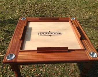 Havana Bar Solid Mahogany Domino  This table is made in Orlando Florida USA