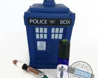 "Sonic Scent - WICKED - ""Missy"" Doctor Who Inspired Body Scent - A complex fragrance of Patchouli & Vanilla in a Blue Glass Roller Bottle"