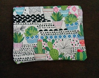 Cactus succulent hipster small make up bag