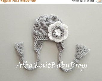 ON SALE 10% SALE Knit Baby Girl Hat_Newborn Photo Props_Toddler Girl Winter Hat_Knit Baby Girl Winter Hat_Winter Baby Hat_Newborn Baby Hat_T