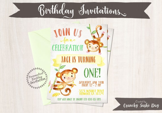 Boy Birthday Invitation Crunchy Sushi Day