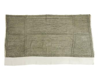 Antique handmade Bogolan strip-woven mud cloth from Mali, West Africa B197