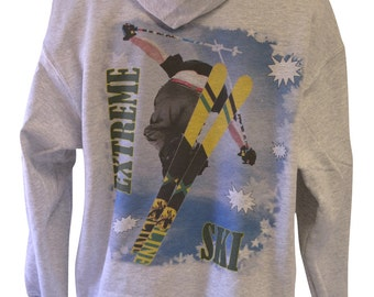Extreme Ski Pullover Hoodie Size X-Large