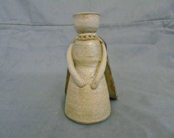 studio pottery candle holder