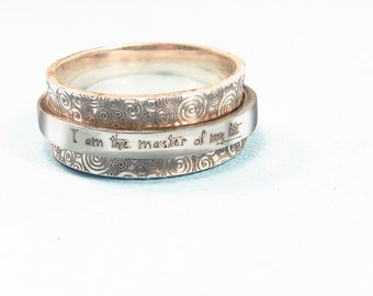 Personalized Ring -  Fidget Ring Spinner Ring  -  Engraved Jewelry - Personalized Graduation Gift - Custom Ring - Worry Ring  -Jewelry