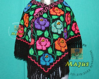 Coat, Huipil, morning, handmade handmade Poncho