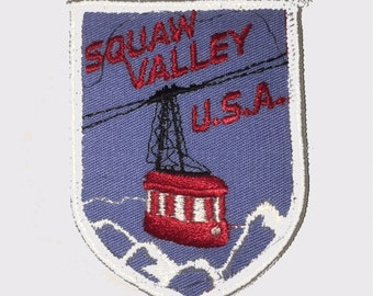 Vintage Squaw Valley Resort California Ski Patch