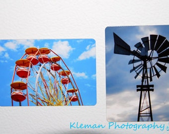 """Set of 2 Magnets """"Summer in Michigan""""-READY TO SHIP"""