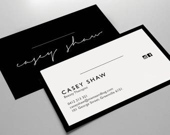 Business Card Design / Business Card Template / Small Business / Pre-made Business Card / Downloadable / Printable Business Card