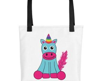 Teal Unicorn purse carry on diaper bag Tote bag