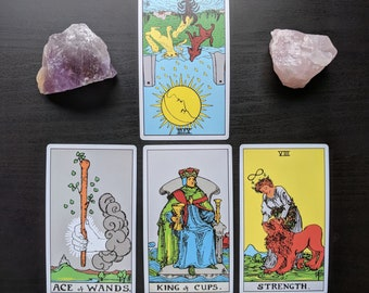 Tarot Card Reading Sale One Question Four Card Pull Psychic Reading by Clairvoyant Intuitive Reader Fast Response Accurate Same Day
