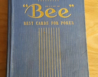 Bee Best Cards for Poker - publishers 49th edition - very yellowed paged, loose pages, altered art supply, crafting page