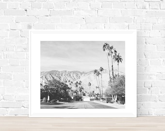 Palm Springs photography, Palm Springs Print, black and white print,California photography, Desert photography, palm trees, stylish decor