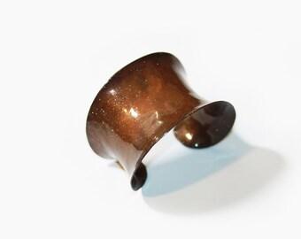 Copper Cuff Brown Patina
