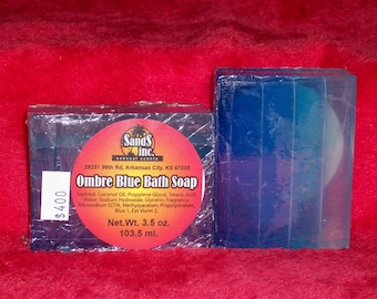 Ombre Blue Soap