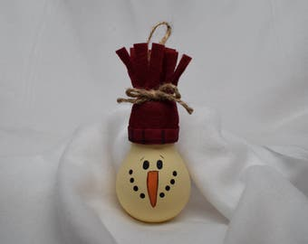 Snowman Christmas Tree Ornament, Lightbulb Christmas Tree Ornament, Christmas Decor