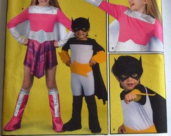 Childrens Superhero Costumes Sizes 3 4 5 6 Drake & Ferris Simplicity Pattern 2567 UNCUT