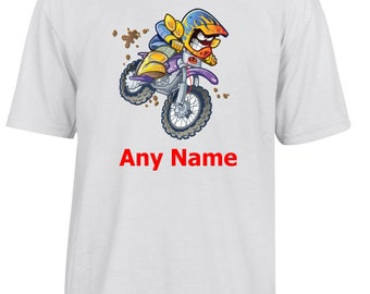Personalised Motocross/Motorbike T Shirt  *Choice of name colours*