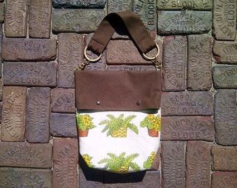 Fold Over Color Block Purse // Market Bag // Shoulder Bag // Tote Bag