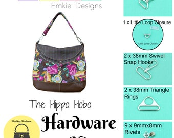 The Hippo Hobo  - Emkie Designs  -  Hardware Kit