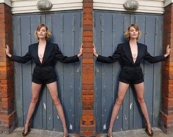 Rare vintage 80s 1980s Antony price sculpted women's Blazer Suit Jacket S Vtg Tailoring