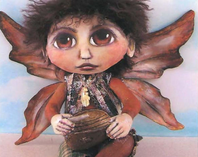 """SE462 - Danny,  9"""" Painted Fabric Fairy Doll Pattern,  Sewing Cloth Doll Pattern - PDF Download by Susan Barmore"""