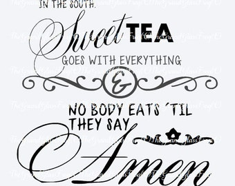 In the South sweet tea quote(svg031), svg files, quote svg, quote clipart, quote vector, quotes, southern svg, southern sayings