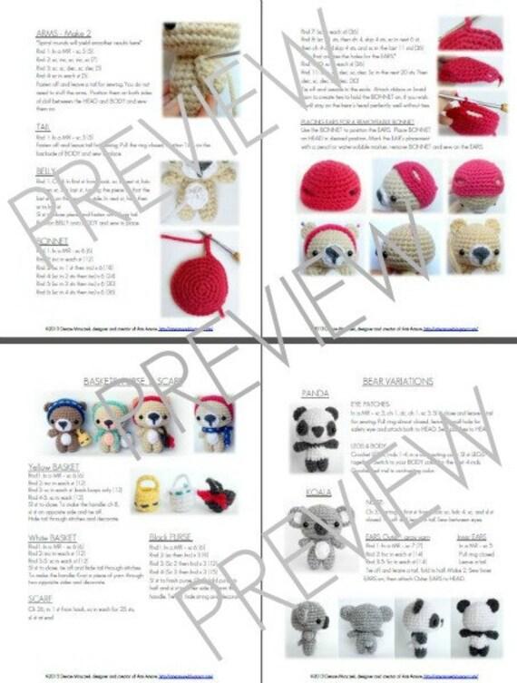 Pdf crochet bear pattern tutorial amigurumi bear pattern pdf crochet bear pattern tutorial amigurumi bear pattern crochet panda pattern crochet koala pattern english only instant download ccuart Image collections