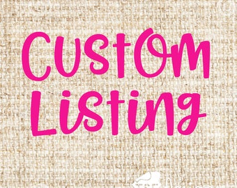Custom Listing for Staci Putz