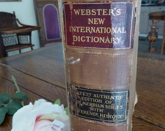 1922 Webster's New International Dictionary Reference History Edition Based on 1890-1900, 1922 Webster's New International Dictionary