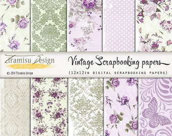 Scrapbook Papers and Digital Paper Pack 30
