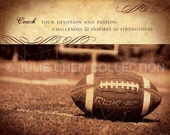 Personalized Football Coach Gift - Football Coach Keepsake - Sports Art - Sports Gift - Football Decor - Coach Retirement Gift