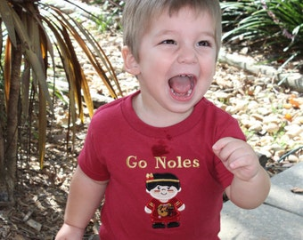 Florida State, FSU, Seminoles,  new baby gift, baby shower gift, tshirt, t shirt, custom, florida, Noles, shirts, personalized, boys shorts