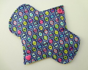 "6"" Light Flow - Colorful Eyes - Waterproof Reusable Cotton Cloth Sanitary Pad"