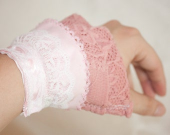 SUMMER CLEARANCE - Dusty Rose Teatime Cuffs