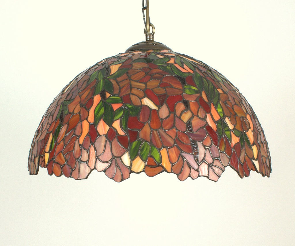 165 stained glass ceiling lamp tiffany style hanging zoom aloadofball Choice Image