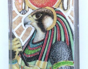 Ra Horus Egyptian Falcon God Pendant
