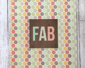 Fab Retro Big Happy Planner Cover