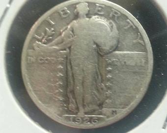 STANDING LIBERTY QUARTER- 1926. Antique.