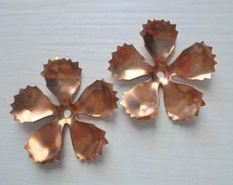 Vintage Copper Flower Findings Metal Copper Flower Findings 33mm