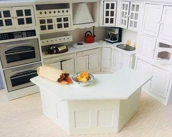 Dolls House Deluxe White Kitchen Set-5pcs