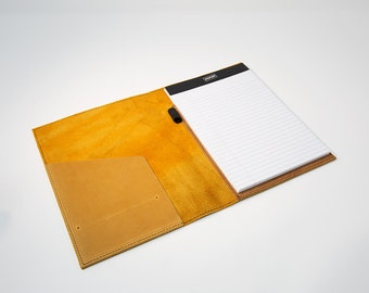 Crazy Horse (Wheat) Leather Cover for Staples Notepads. Crazy Horse Leather Notepads Cover