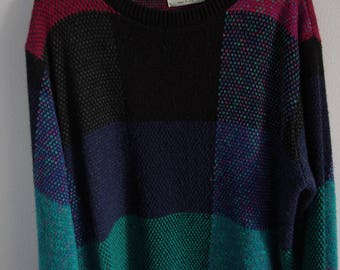 Vintage 80s Checkered Alfred Dunner Sweater