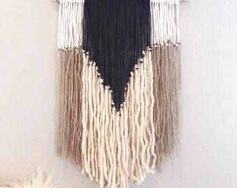 Boho wall decor | yarn wall hanging | yarn macrame | wall decor